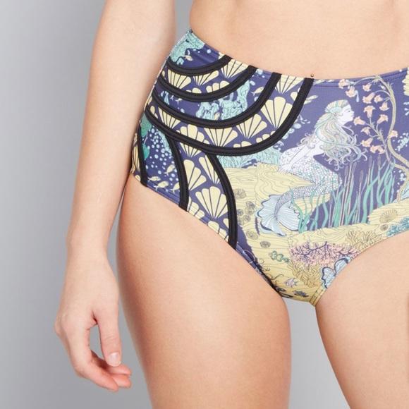 Modcloth Other - Beautiful high-waisted mermaid bikini bottom